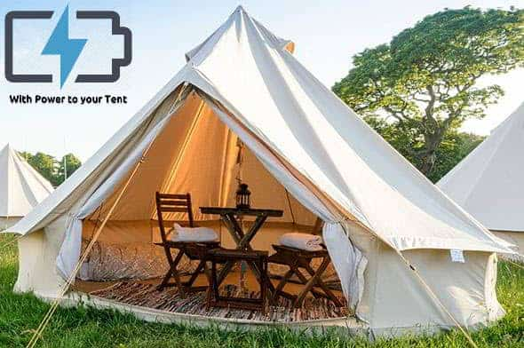 2/3 Person Glamping Tent with Power - British F1 Grand Prix