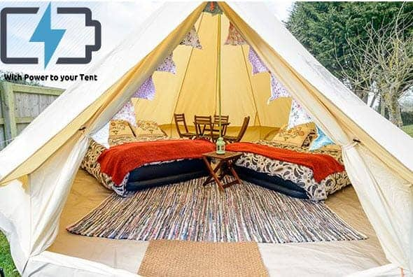 4/5 Person Glamping Tent with Power - British F1 Grand Prix