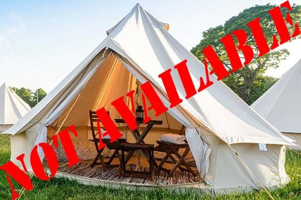 2/3 Person Glamping Tent - Belgian F1 Grand Prix
