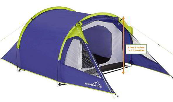 2 Person Budget Tent - British MotoGP