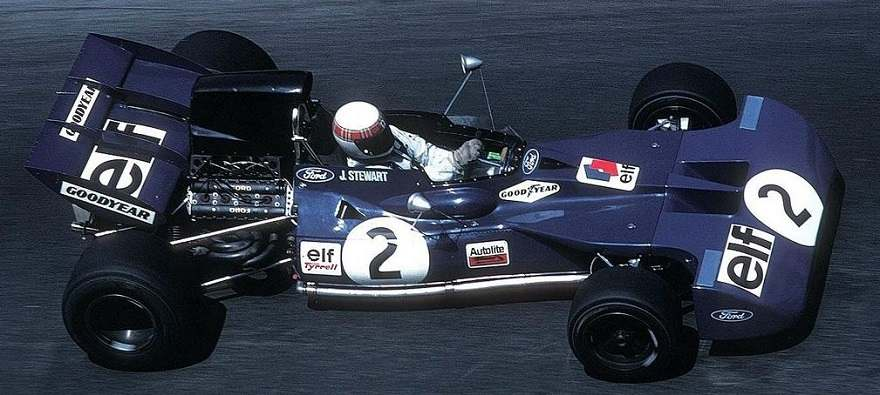 1971 Tyrrell driven by Jackie Stewart