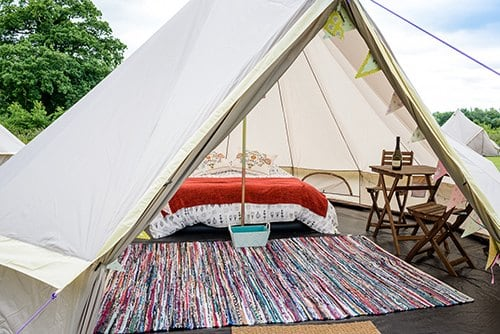2 Person Glamping tent for Belgian F1 Grand Prix at Spa Francorchamps