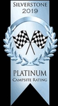 2019 platinum award for whittlebury silverstone campsite