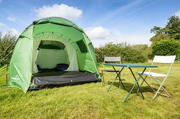 2 man standard tent for the Isle of Man TT exterior