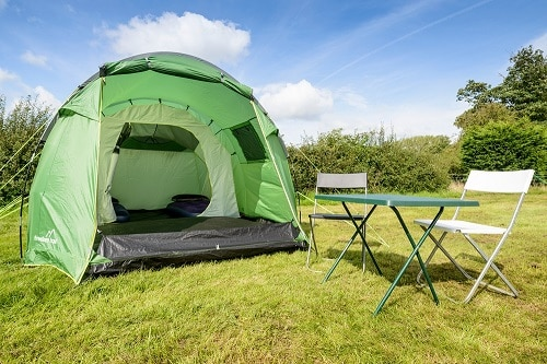 2 person standard pre erected tent available for the Isle of Man TT