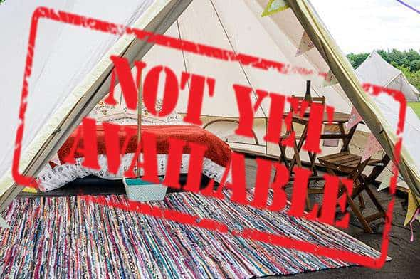 2 person glamping tent not yet available