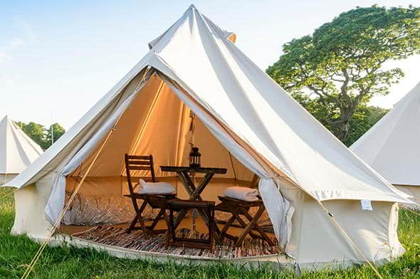 4 metre 2 person glamping tent for F1, MotoGP, Isle of Man TT, Classic, WEC and Cowes Week
