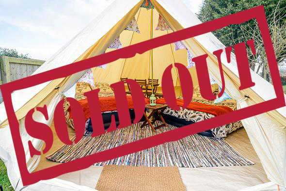 4 person glamping tent sold out