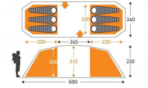 4 person tent dimensions