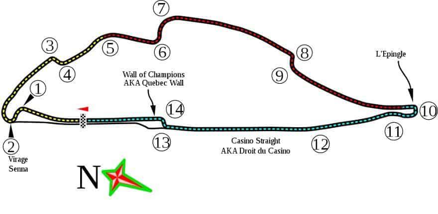Gilles Villeneuve Canada F1 circuit map