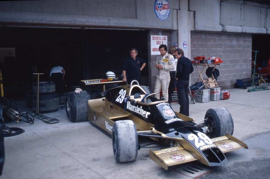 Riccardo Patrese with his Arrows A1B at Imola in 1979