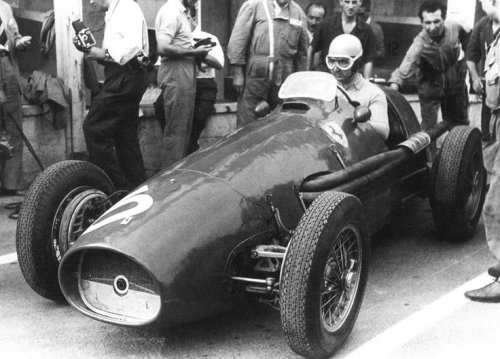 Alberto Ascari. Seen here before he went out to win the 1953 Belgium Grand Prix at Francorchamps for Ferrari.