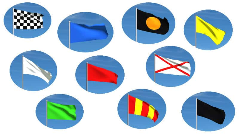 all the motogp flags in a collage