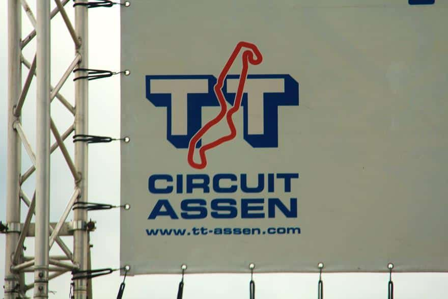 assen circuit entrance sign
