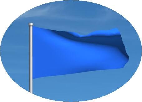 blue motogp flag