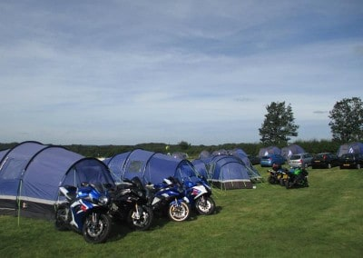 intentsGP campsite at Whittlebury for the Silverstone British MotoGP