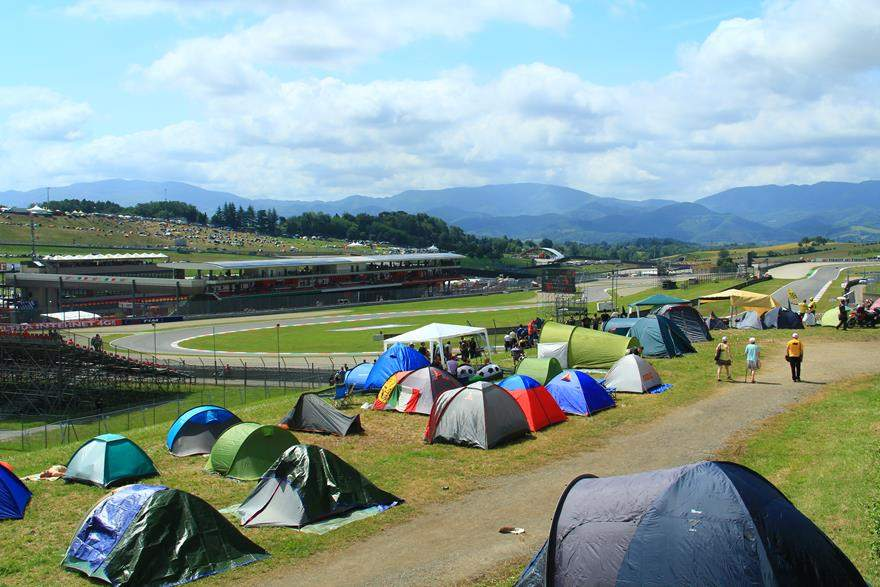 camping at Mugello MotoGP trackside