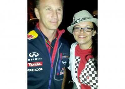 June with Christian Horner