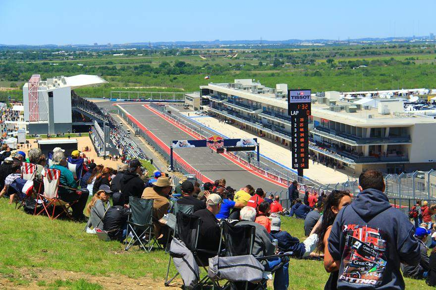 COTA MotoGP start finish line
