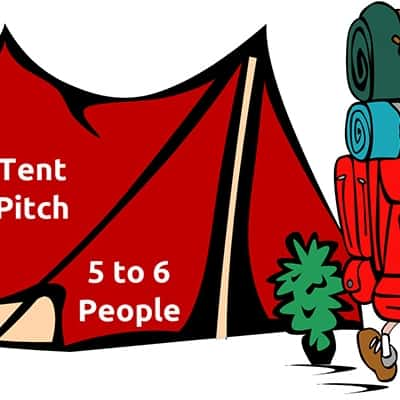 Camping pitch for 5 or 6 people for Lendy Cowes week
