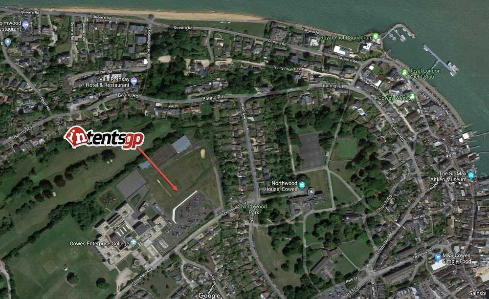 Detailed close up map of our location for cowes week