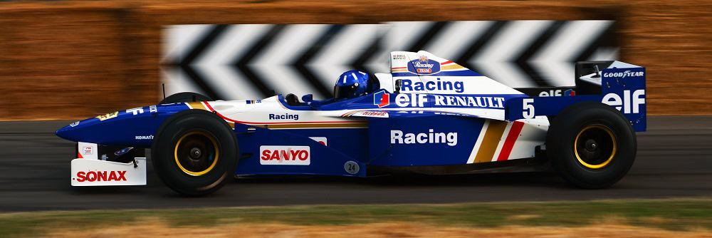 Damon Hill reunited with his 1996 Formula 1 World Championship winning car, the Williams Renault FW18