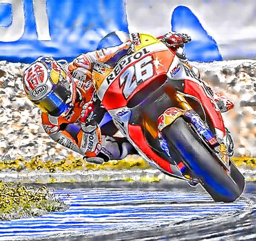 Dani Pedrosa MotoGP Art from Spain 2017