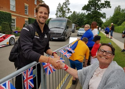 Diane with Romain Grosjean