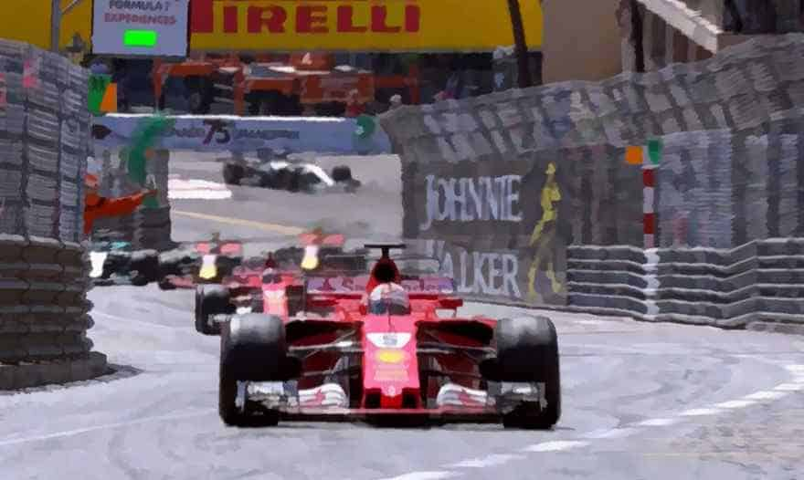 F1 art - Ferrai first and second Monaco 2017