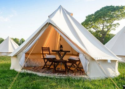 glamping bell tent hire 2 person exterior