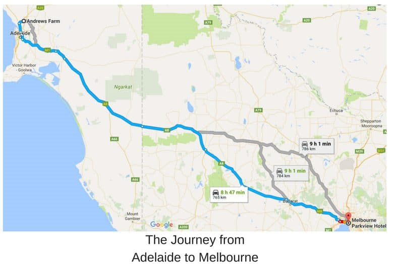 Adelaide to Melbourne