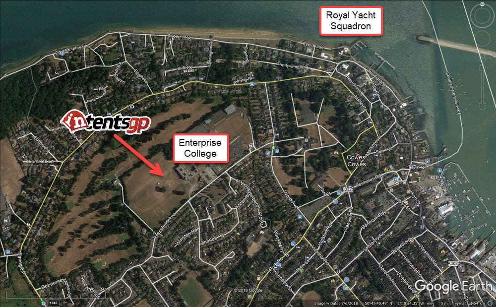 intentsGP campsite location for Cowes Week