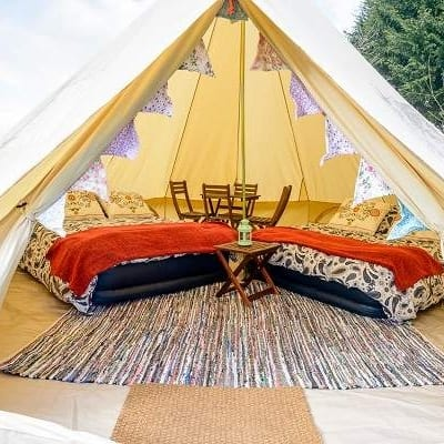 isle of man tt 4 person glamping tent