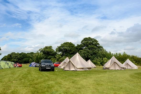 4 person glamping tent for the Isle of Man TT