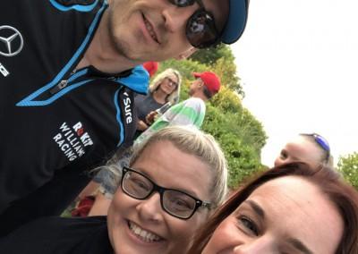 Jo and Jennifer with Robert Kubica