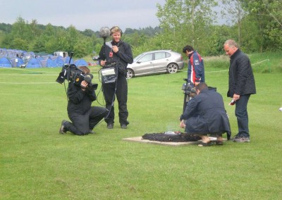 Sky filming at Whittlebury (that's us in the background!)