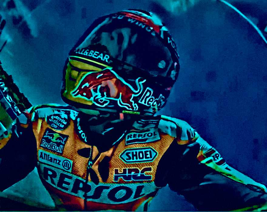 Marc Marquez MotoGP Art from Spain 2017