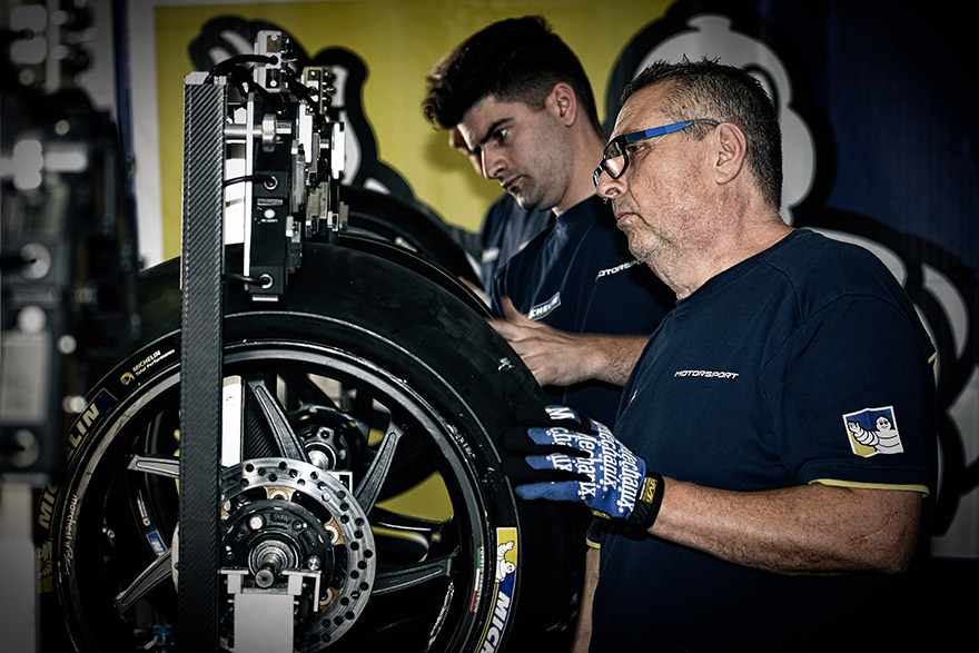michelin motogp tyre mechanics