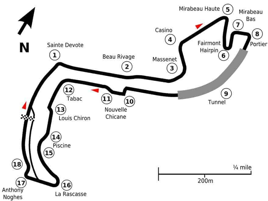 monac f1 grand prix circuit diagram