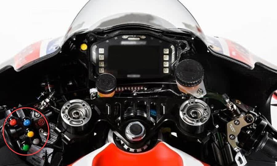 motogp handlebar buttons