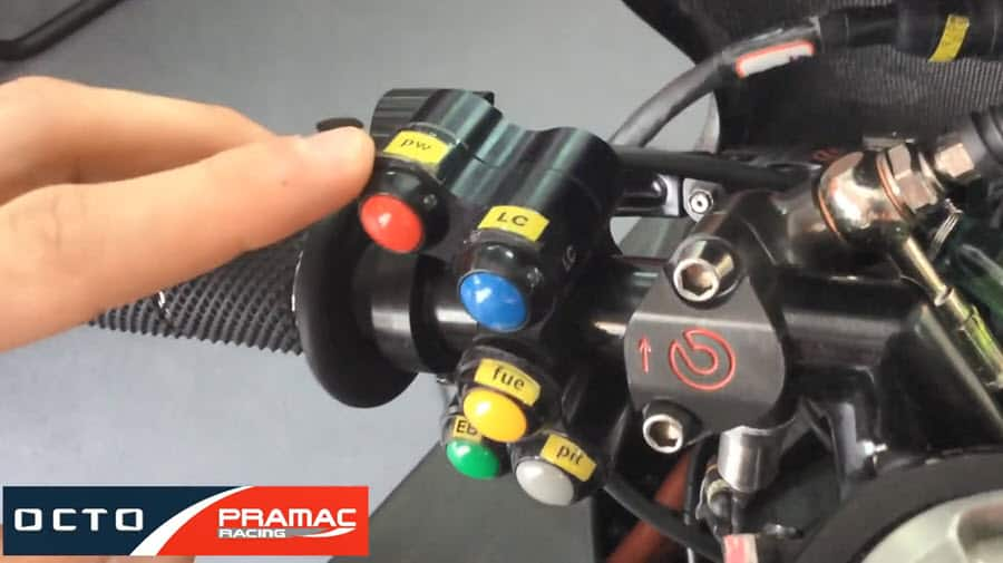 What are the MotoGP Bike Handlebar Buttons?