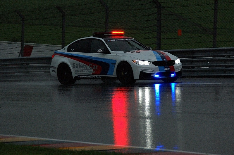MotoGP safety car in the wet at Sachsenring