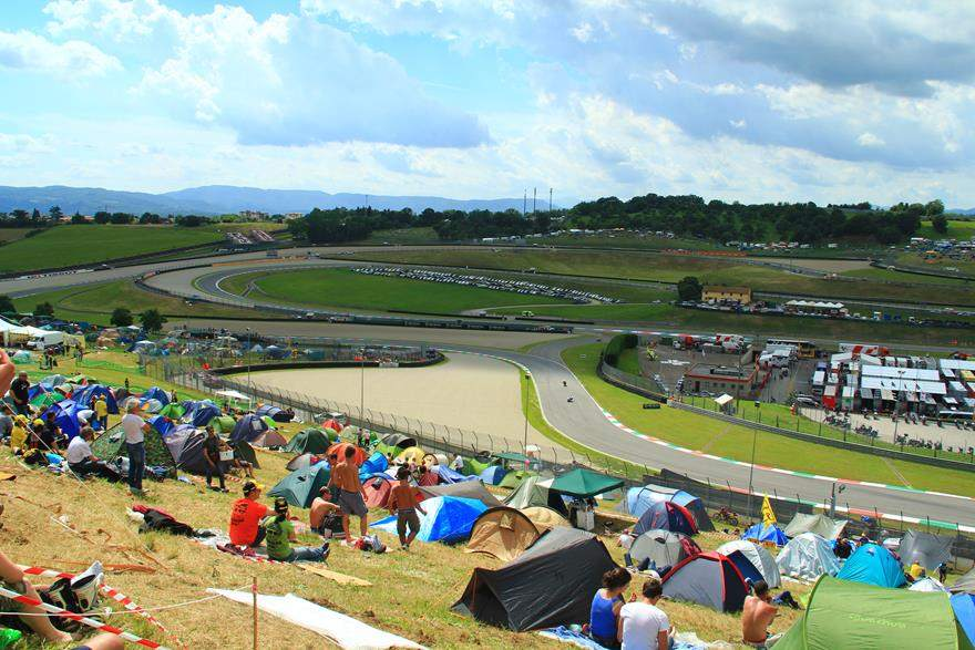 Mugello trackside MotoGP camping