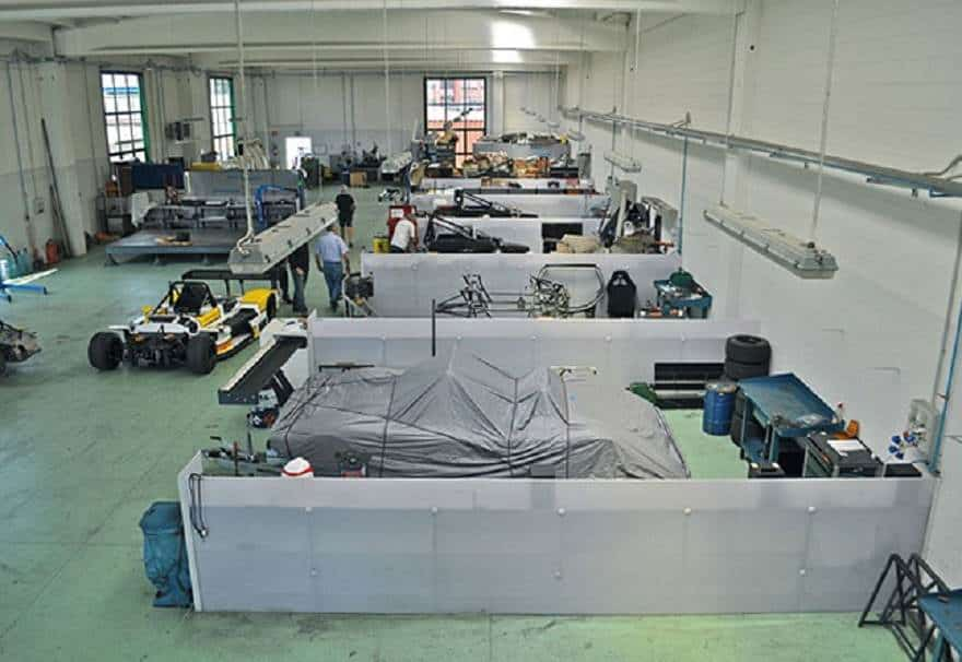Osella factory floor
