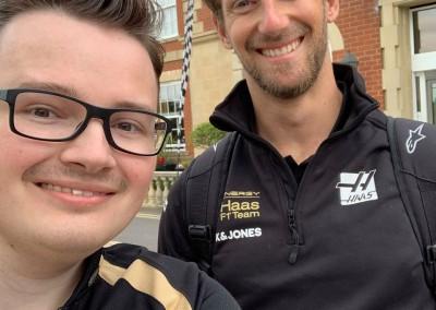 Owen with Romain Grosjean