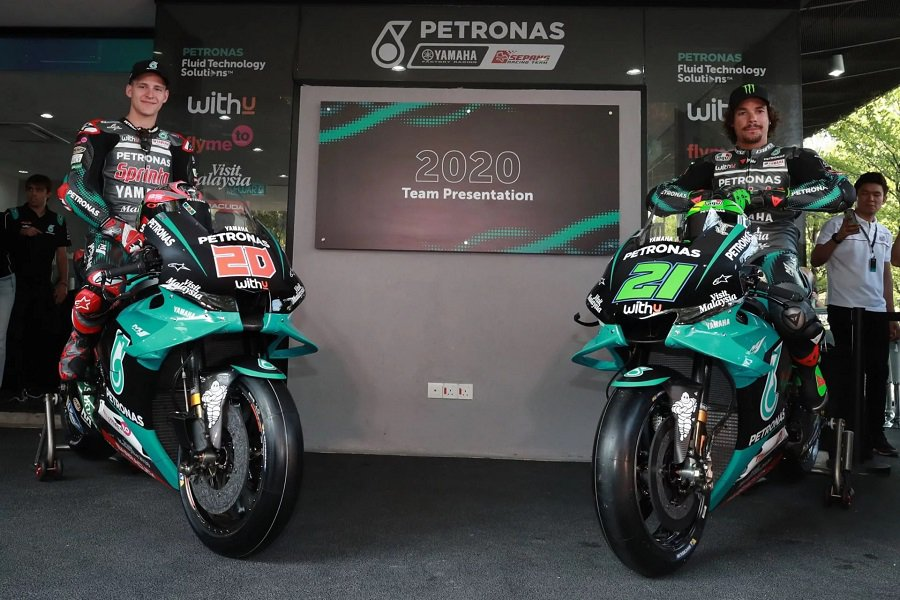 PETRONAS Yamaha Sepang Racing Team's Fabio Quartararo (left) and Franco Morbidelli (right)