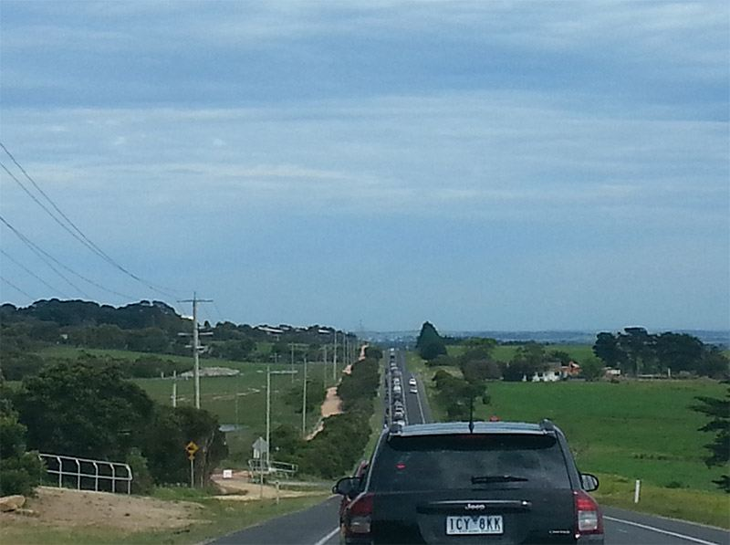 Phillip island motogp traffic queue
