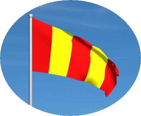 red and yellow striped motogp flag