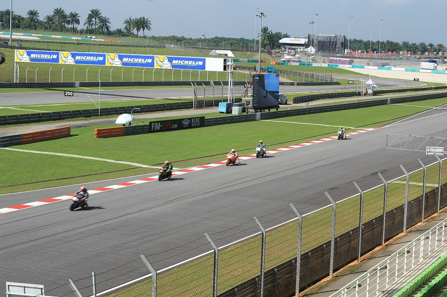 Sepang back straight
