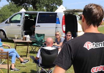 intentsGP pre pitched camping at the British F1 Grand Prix